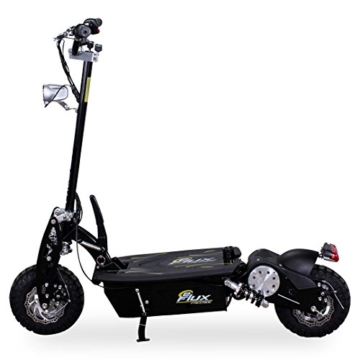 E-Scooter Roller Original E-Flux Freeride 1000 Watt 48 V mit Licht und Freilauf Elektroroller E-Roller in vielen Farben (schwarz) -