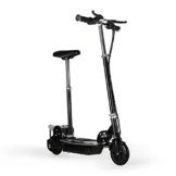 Electronic Star V 8 Elektro-Scooter Elektroroller mit Sattel (16km/h, 2 Bremsen, 6 bis 8 Stunden-Akku-Betrieb) schwarz -