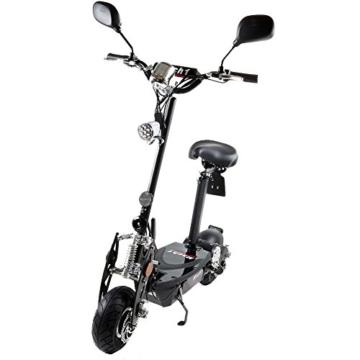 MACH1® Elektro E-Scooter mit EU Strassenzulassung 20Km/h Mofa Modell-2 EEC 36V/500W (Es besteht keine Helmpflicht für diesen Scooter) (1x 36V-14Ah Original Akkus) -